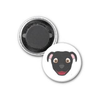 Black Pitbull 1 Inch Round Magnet
