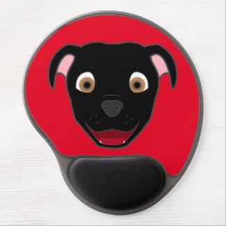Black Pitbull Face Gel Mouse Pad