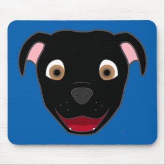 Black Pitbull Face Mouse Pad