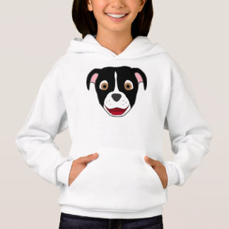 Black Pitbull Face with White Blaze Hoodie