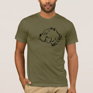 Black Pitbull Head Vector Art  -  T-shirt