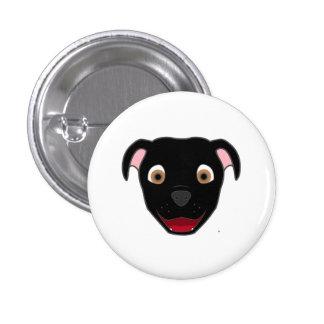 Black Pitbull Pinback Button