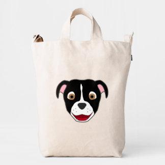 Black Pitbull with Blaze Duck Bag