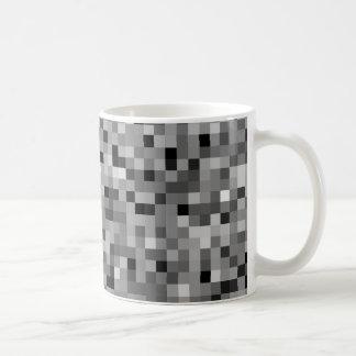 Black Pixel Mosaic Coffee Mug
