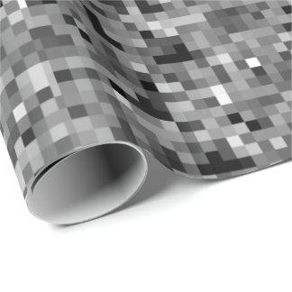 Black Pixel Mosaic Gift Wrap