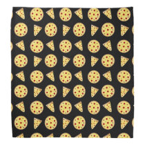 Black pizza pattern bandana