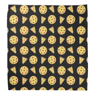 Black pizza pattern bandana