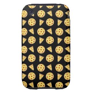 Black pizza pattern tough iPhone 3 case