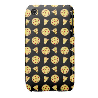 Black pizza pattern iPhone 3 cases
