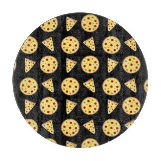 Black pizza pattern cutting boards