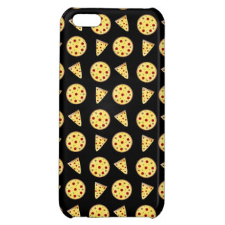 Black pizza pattern iPhone 5C cover