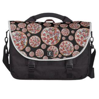Black pizza pie laptop computer bag