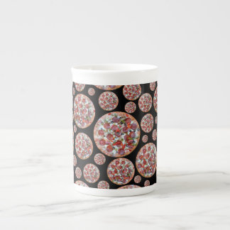 Black pizza pie porcelain mugs