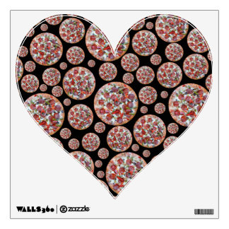Black pizza pie wall decal