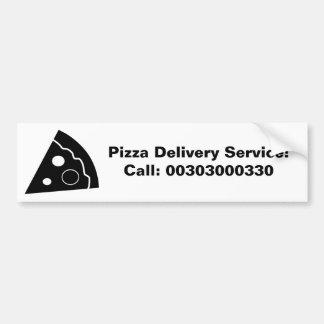 Black Pizza, Pizza Delivery Service, Car Bumper Sticker