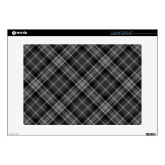 "Black Plaid 15"" Laptop Skin"