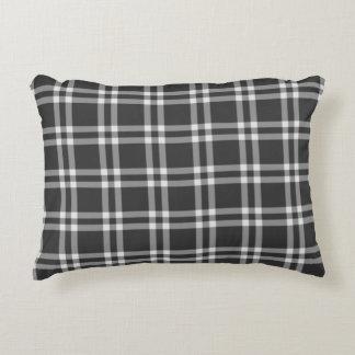 Black Plaid Decorative Pillow