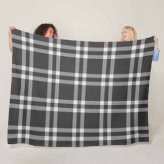 Black Plaid Fleece Blanket