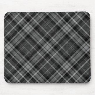 Black Plaid Mouse Pad
