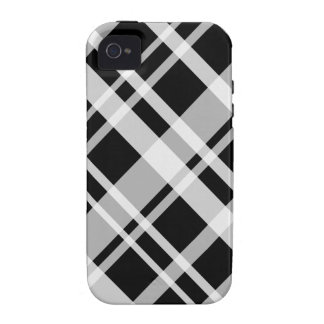 Black Plaid Pattern iPhone 4 Tough iPhone 4 Cover