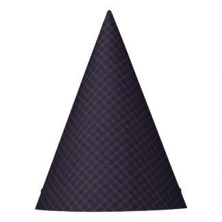 Black Plaid Pattern Party Hat
