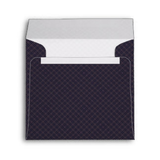 Black Plaid Pattern With Initial Envelope