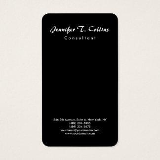 Black Plain Brush Script Minimalist Modern Business Card