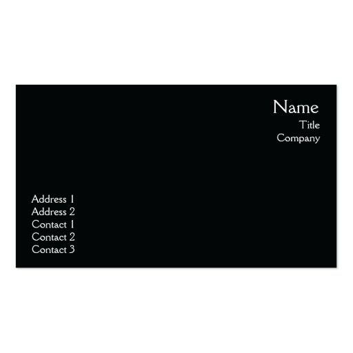 Black Plain  - Business Business Cards
