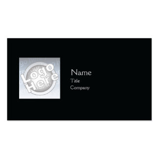 Black Plain - Business Double-Sided Standard Business Cards (Pack Of 100)
