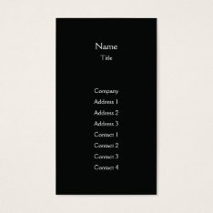 Black Plain Vertical - Business Business Card at Zazzle