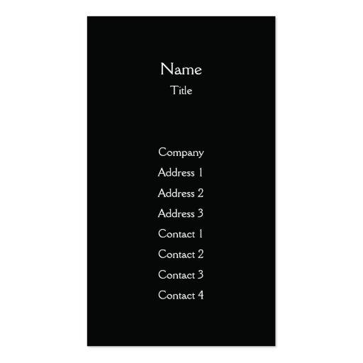 Black Plain Vertical - Business Business Card