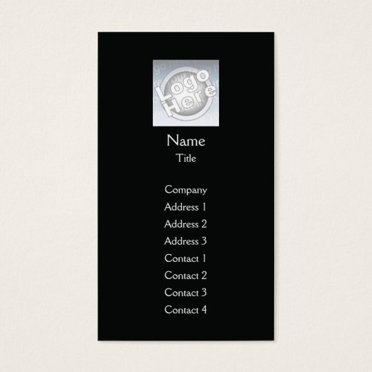 Black Plain Vertical - Business Business Card