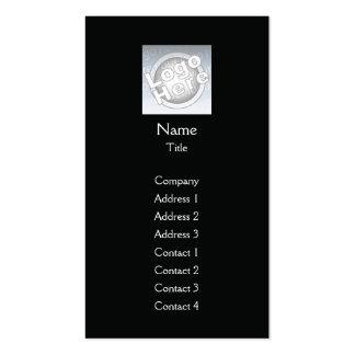 Black Plain Vertical - Business Business Card Template