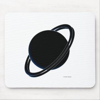 Black Planet Mouse Pad
