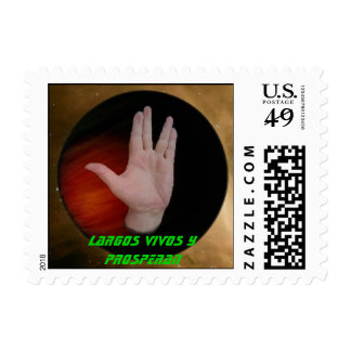 Black Planet with Hand, Largos vivos y prosperan Stamp