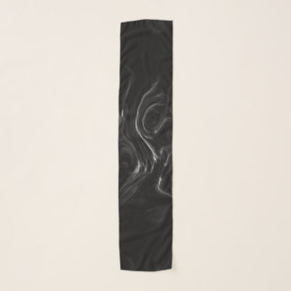 Black Plasma Energy Abstract Art Scarf