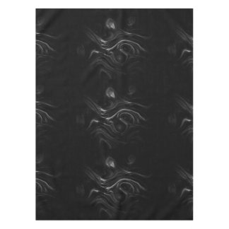 Black Plasma Energy Abstract Art Tablecloth