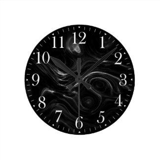 Black Plasma Energy Abstract Art Wall Clock