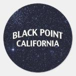 Black Point California Round Sticker
