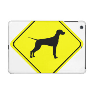 Black Pointer Dog Silhouette Caution Crossing Sign iPad Mini Retina Covers