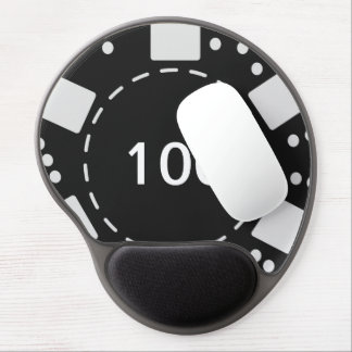 Black Poker Chip Gel Mouse Pad