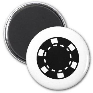 Black poker chips 2 inch round magnet