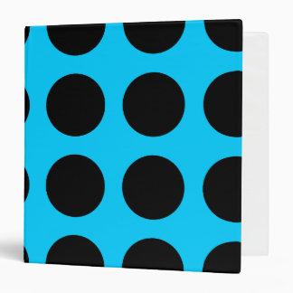 Black Polka Dot Avery Binder