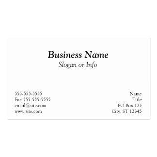 Black Polka Dot Business Card
