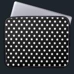 "Black polka dot laptop sleeve<br><div class=""desc"">Black polka dot laptop sleeve</div>"