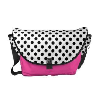 Black Polka Dot: Messenger Bag rickshawmessengerbag