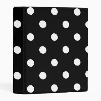 Black Polka Dot Mini Binder