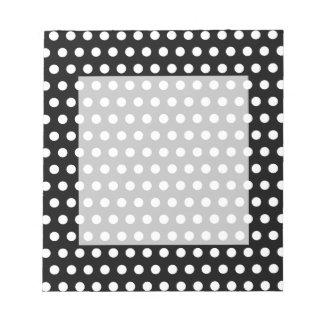 Black Polka Dot Notepad