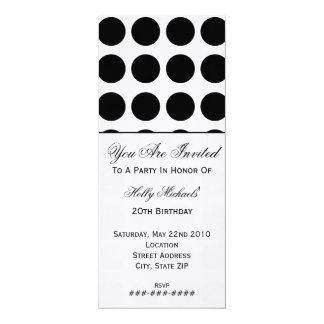 Black Polka Dot Party Invitation