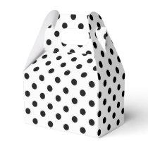 Black Polka dot pattern gable favor box